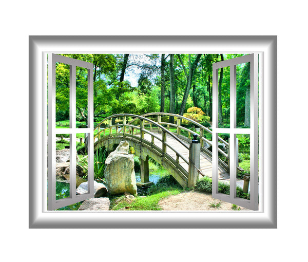 VWAQ Bridge Forest View Peel and Stick Vinyl Wall Decal - NW31 - VWAQ Vinyl Wall Art Quotes and Prints