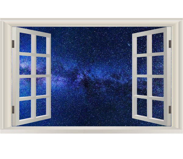 VWAQ Galaxy Wall Decal Wall Stickers Vinyl Art - 3D Outer Space Wall Decals - NWT3 - VWAQ Vinyl Wall Art Quotes and Prints