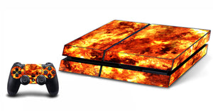 VWAQ PS4 Fire Skin For Console And Controller Flame Skin For Playstation 4 - PGC3 - VWAQ Vinyl Wall Art Quotes and Prints