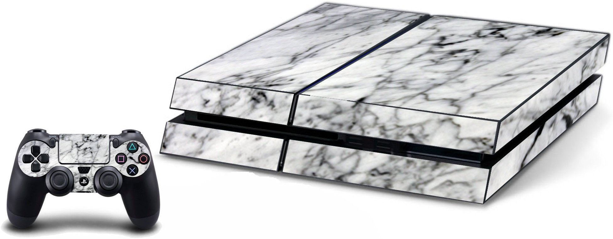 VWAQ PS4 Marble Skins Console And Controller Rock Skin For Playstation 4 - VWAQ Vinyl Wall Art Quotes and Prints