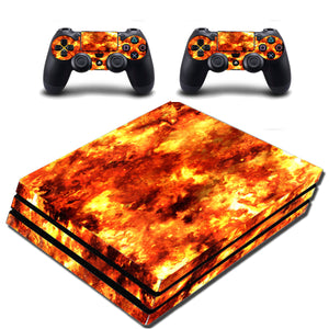 VWAQ PS4 Pro Flame Decal Skin Playstation 4 Pro Fire Wrap Skin - VWAQ Vinyl Wall Art Quotes and Prints