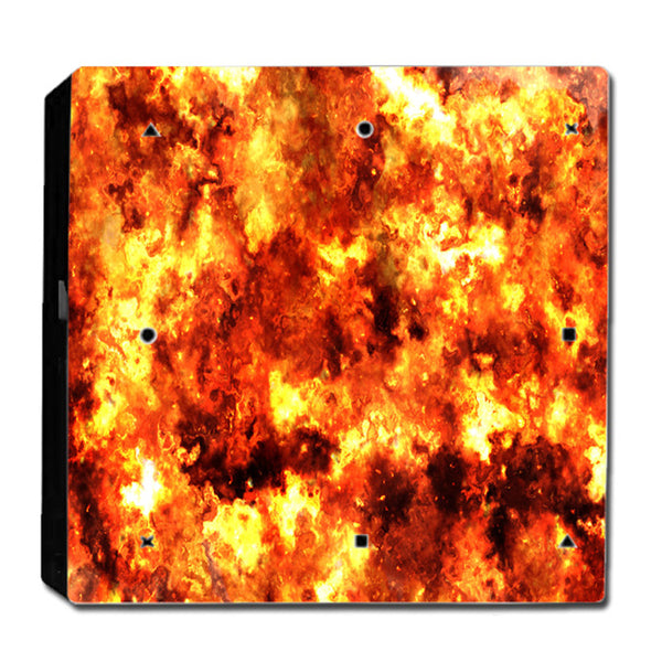 VWAQ PS4 Pro Flame Decal Skin Playstation 4 Pro Fire Wrap Skin - PPGC3 - VWAQ Vinyl Wall Art Quotes and Prints