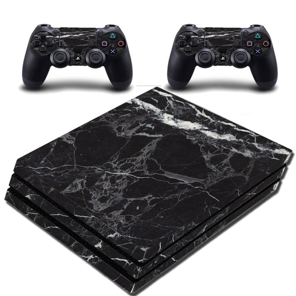 VWAQ PS4 Pro Black Skin Cover Playstation 4 Pro Marble Granite Decal - VWAQ Vinyl Wall Art Quotes and Prints