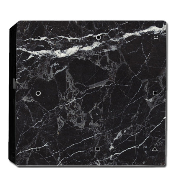 VWAQ PS4 Pro Black Skin Cover Playstation 4 Pro Marble Granite Decal - PPGC6 no background