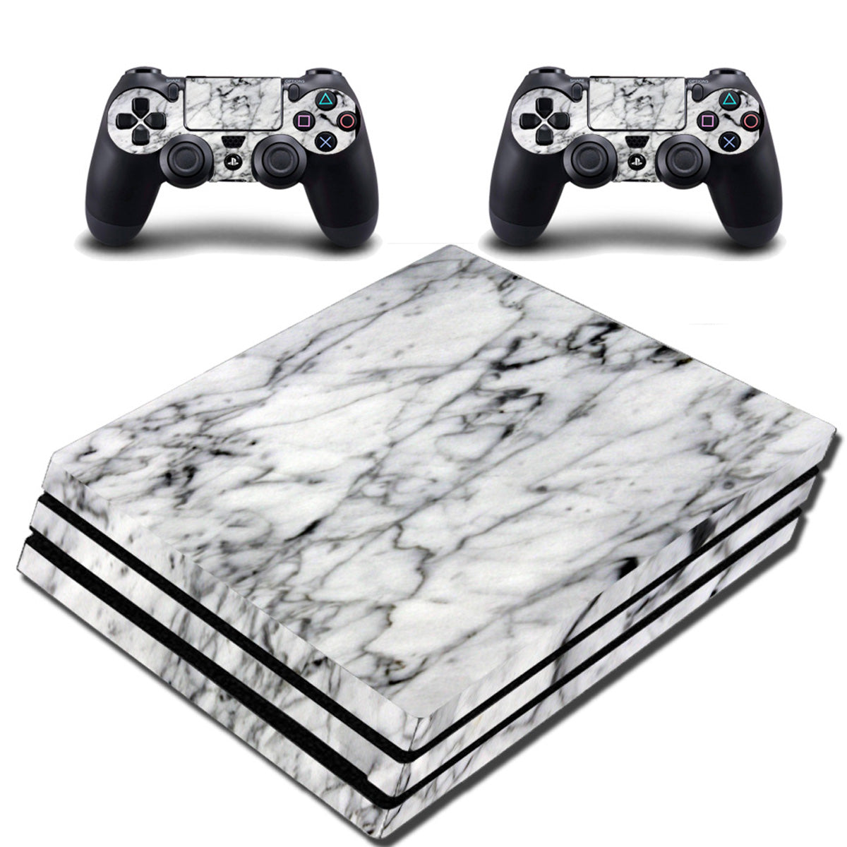 VWAQ PS4 Pro Marble Skin Cover Playstation 4 Pro White Wrap Decal - VWAQ Vinyl Wall Art Quotes and Prints