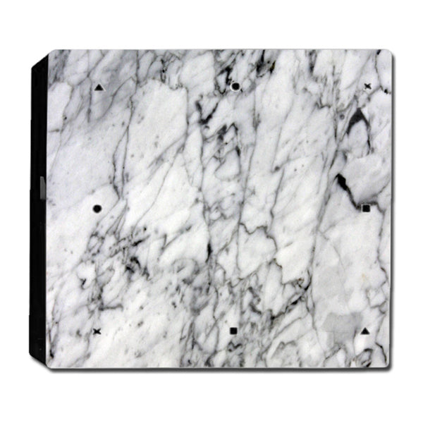 VWAQ PS4 Pro Marble Skin Cover Playstation 4 Pro White Wrap Decal - PPGC7 no background