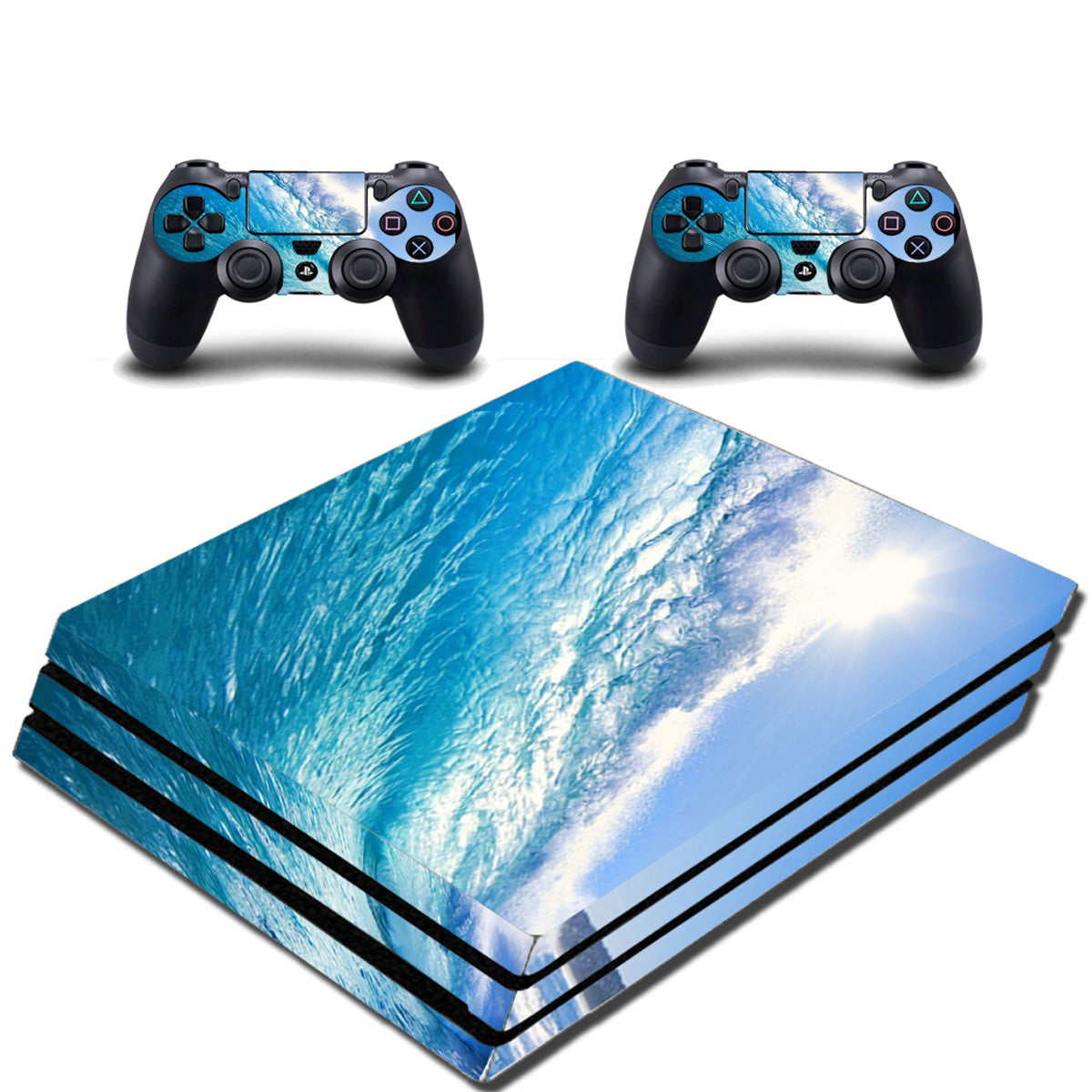 VWAQ PS4 Pro Water Skin Decal Playstation 4 Ocean Vinyl Wrap Skins - VWAQ Vinyl Wall Art Quotes and Prints