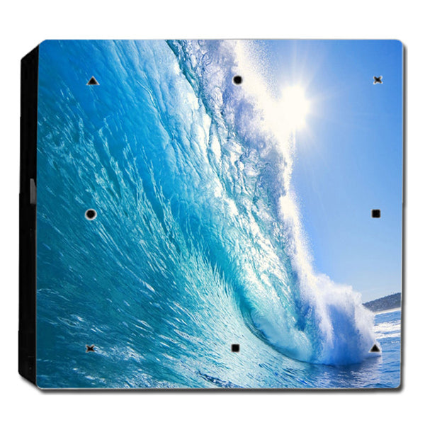 VWAQ PS4 Pro Water Skin Decal Playstation 4 Ocean Vinyl Wrap Skins - PPGC9 no background