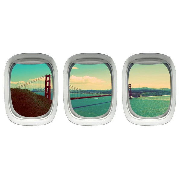 VWAQ Golden Gate Bridge Wall Decal - Airplane Window Decal - PPW17 - VWAQ Vinyl Wall Art Quotes and Prints