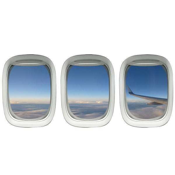 VWAQ Pack of 3 Airplane Window Wings Peel and Stick Vinyl Wall Decal - PPW28 - VWAQ Vinyl Wall Art Quotes and Prints