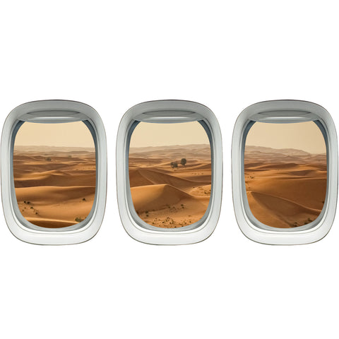 VWAQ Airplane Window Sahara Desert View Aerial Aviation Theme Decor - VWAQ Vinyl Wall Art Quotes and Prints