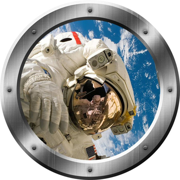 VWAQ Astronaut Outer Space Window Porthole Removable Wall Decal - PS16 - VWAQ Vinyl Wall Art Quotes and Prints