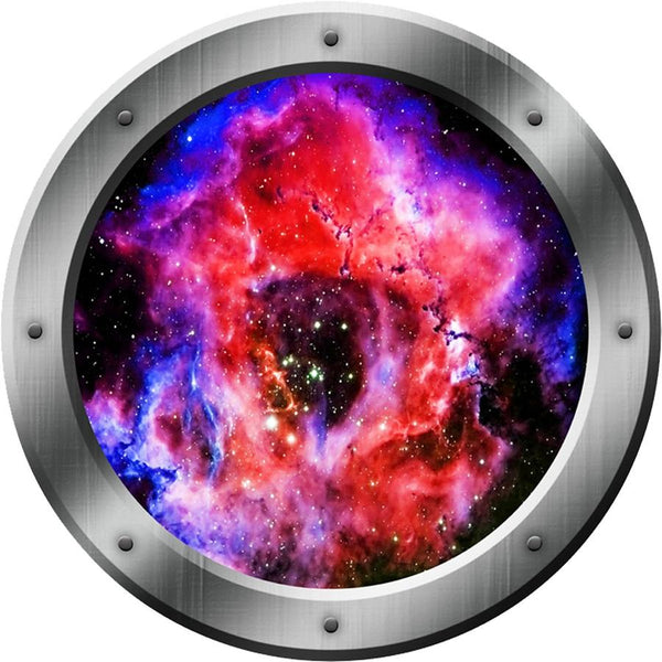 Space Portal 3D Wall Decals, Nebula Mural, Outerspace Decal - VWAQ Vinyl Wall Art Quotes and Prints
