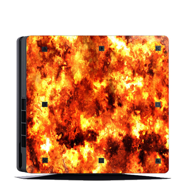 VWAQ PS4 Slim Flame Decal Sticker Playstation 4 Slim Console Fire Skin Cover - PSGC3 - VWAQ Vinyl Wall Art Quotes and Prints