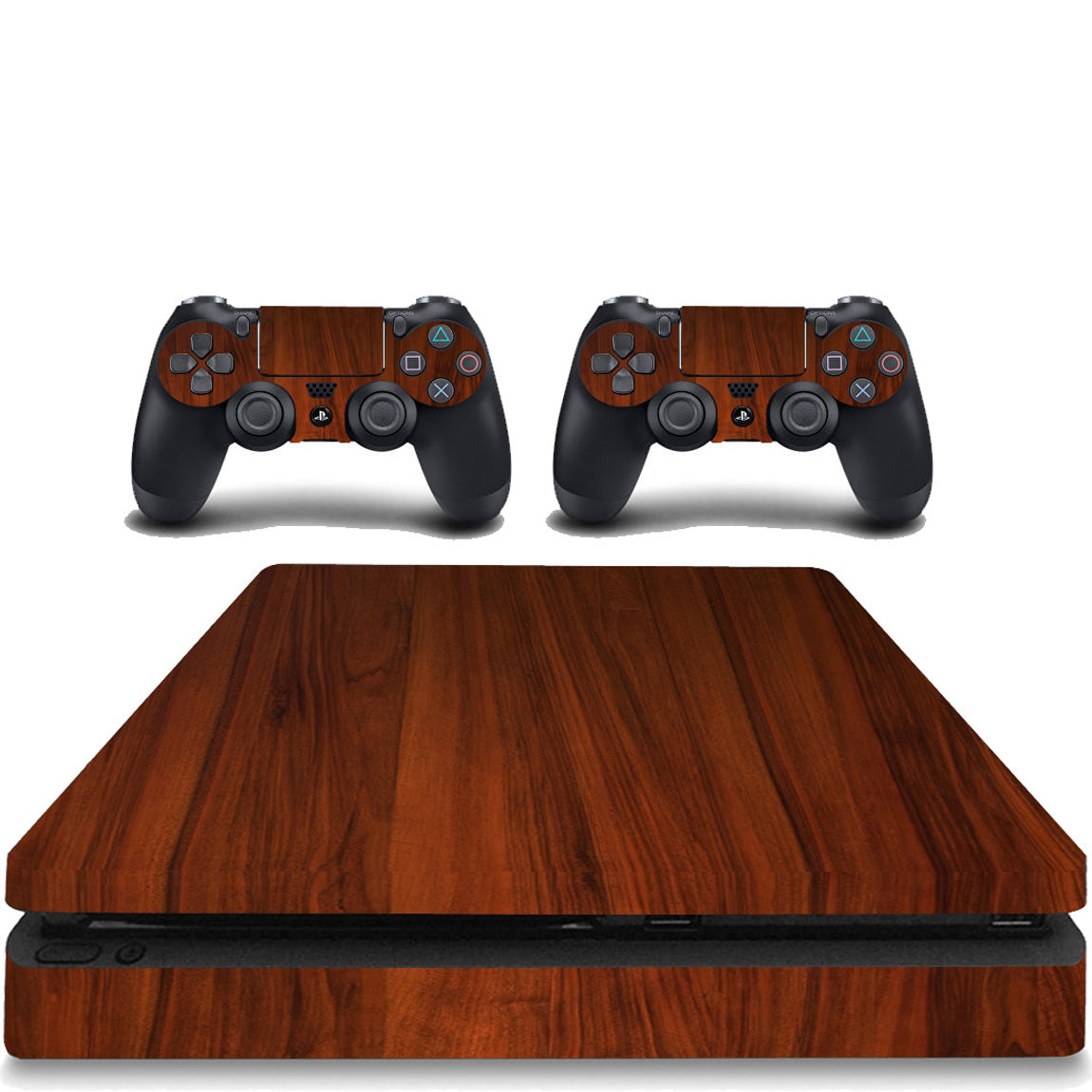 VWAQ PS4 Slim Decal Wood Skin Playstation 4 Slim Sticker Woodgrain Cover - PSGC4 - VWAQ Vinyl Wall Art Quotes and Prints
