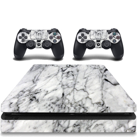 VWAQ Marble Skin PS4 Slim Game Console and Constroller Skins Playstation 4 Slim Cover Skins - PSGC7 - VWAQ Vinyl Wall Art Quotes and Prints