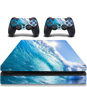 VWAQ PS4 Slim Water Skin Sticker Playstation 4 Slim Ocean Skin Decal - VWAQ Vinyl Wall Art Quotes and Prints