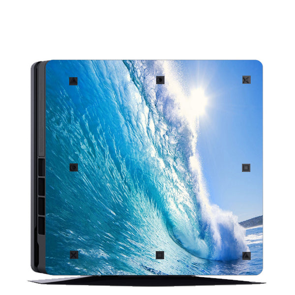 VWAQ PS4 Slim Water Skin Sticker Playstation 4 Slim Ocean Skin Decal - PSGC9 - VWAQ Vinyl Wall Art Quotes and Prints
