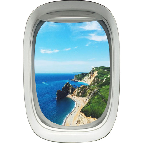 Airplane Window Beach Scene Peel and Stick Vinyl Wall Decal - PW1 - VWAQ Vinyl Wall Art Quotes and Prints