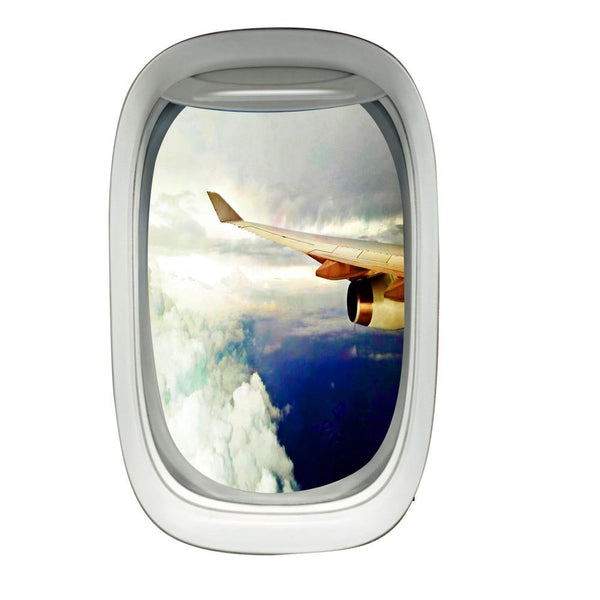 Airplane Wing View Wall Decal Peel and Stick Aviation Wall Stickers - PW21 - VWAQ Vinyl Wall Art Quotes and Prints