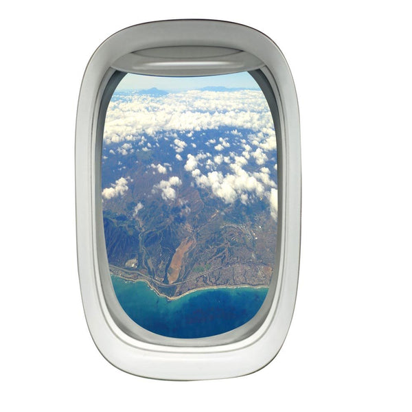 VWAQ Airplane Window Landscape View Peel and Stick Vinyl Wall Decal - PW31 - VWAQ Vinyl Wall Art Quotes and Prints