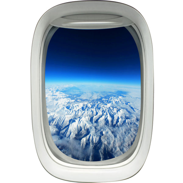 VWAQ Airplane Window Atmosphere View Peel and Stick Vinyl Wall Decal - PW6 - VWAQ Vinyl Wall Art Quotes and Prints