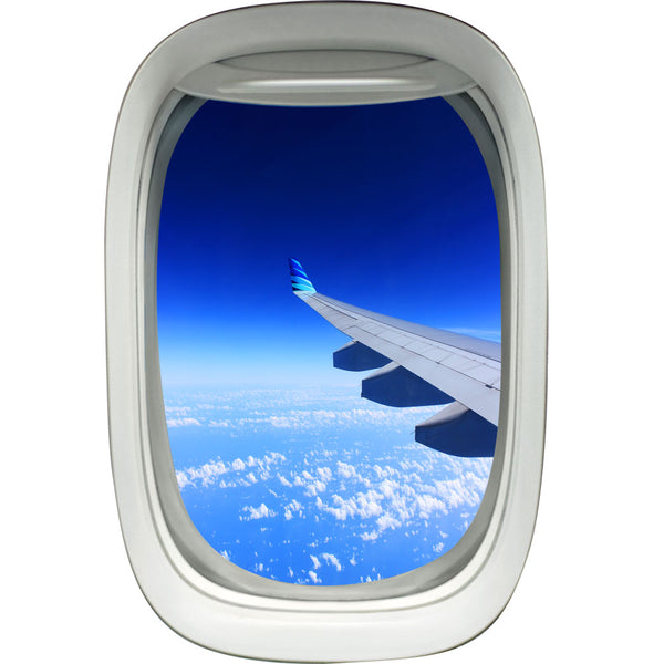 VWAQ Peel and Stick Commercial Airplane Window Wing View Vinyl Wall Decal - VWAQ Vinyl Wall Art Quotes and Prints no background