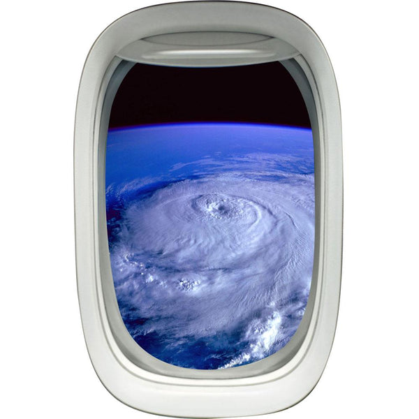 Aerial Hurricane View Peel and Stick Vinyl Wall Decal - PW9 - VWAQ Vinyl Wall Art Quotes and Prints