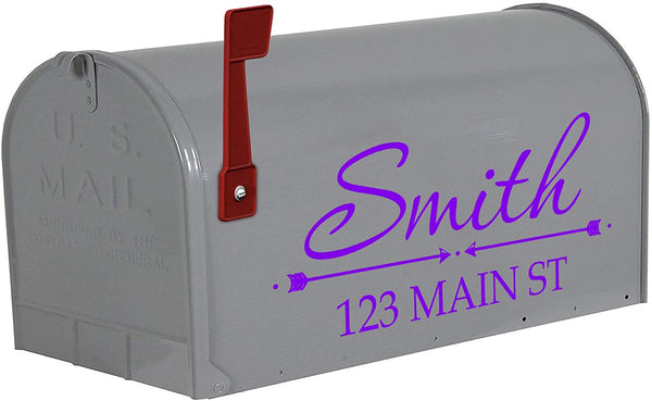 VWAQ Personalized Name on Mailbox Decals - TTC17