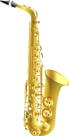 Saxophone Peel and Stick Wall Decal Music Room Decor VWAQ-G490