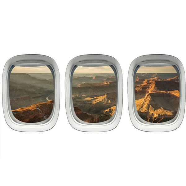 VWAQ Pack of 3 Grand Canyon Wall Sticker For Boys Room Aviation Decals - VWAQ Vinyl Wall Art Quotes and Prints no background