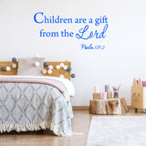 VWAQ Children are a gift from the Lord Wall Quotes Decal - VWAQ Vinyl Wall Art Quotes and Prints