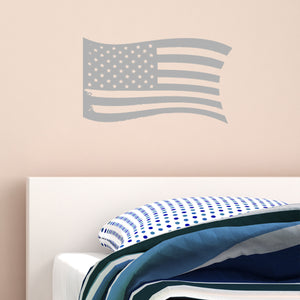 VWAQ Distressed American Flag Vinyl Decal Color Choice US Flag Vinyl Sticker - VWAQ Vinyl Wall Art Quotes and Prints