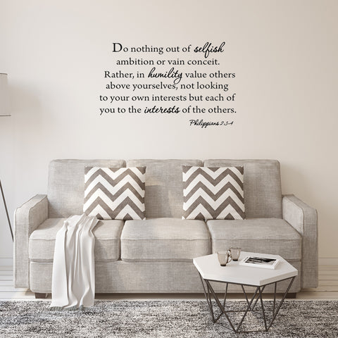 VWAQ Do Nothing Out of Selfish Ambition Bible Wall Quotes Decal - VWAQ Vinyl Wall Art Quotes and Prints