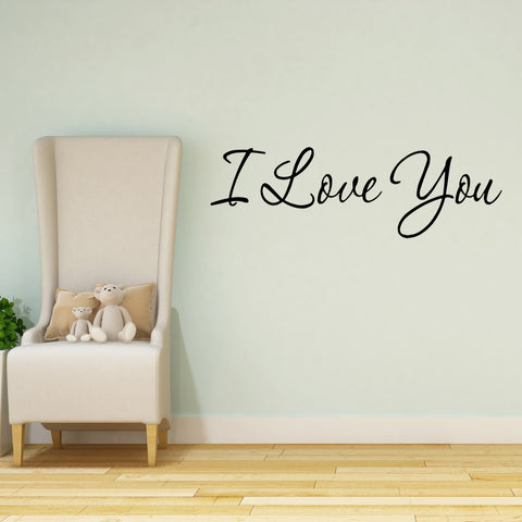 VWAQ I Love You Vinyl Wall Decal - VWAQ Vinyl Wall Art Quotes and Prints