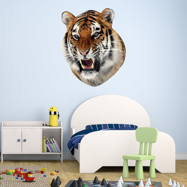 VWAQ Tiger Head Peel and Stick Vinyl Wall Decal - G504 - VWAQ Vinyl Wall Art Quotes and Prints