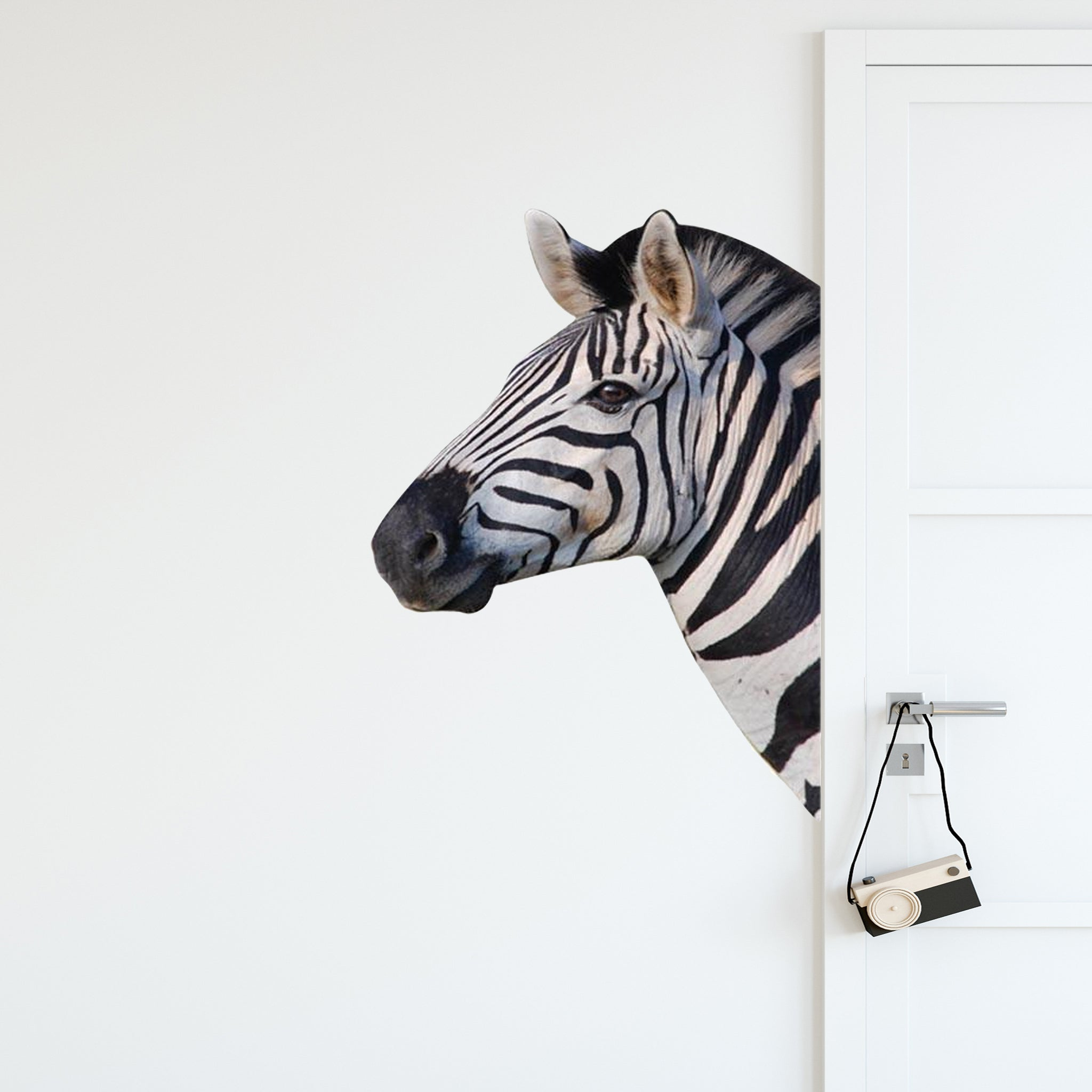VWAQ Zebra Head Peel and Stick Wall art Decal - G503