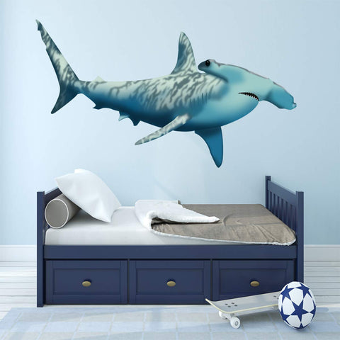 VWAQ Giant Hammerhead Shark Wall Art Shark Room Decor NA02 - VWAQ Vinyl Wall Art Quotes and Prints