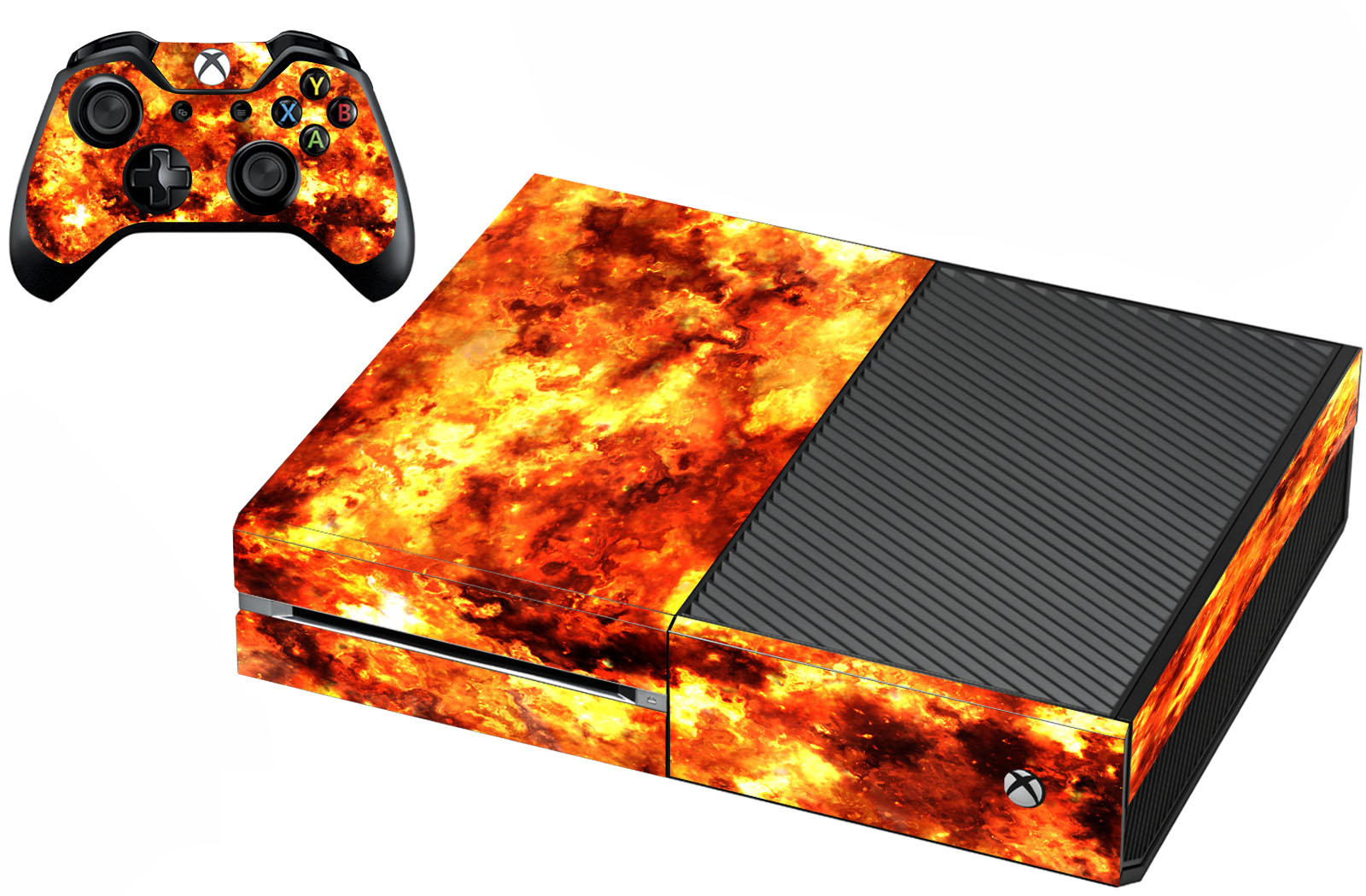 VWAQ Xbox One Fire Skin For Console And Controller Flame Skin For Xbox One - XGC3 - VWAQ Vinyl Wall Art Quotes and Prints