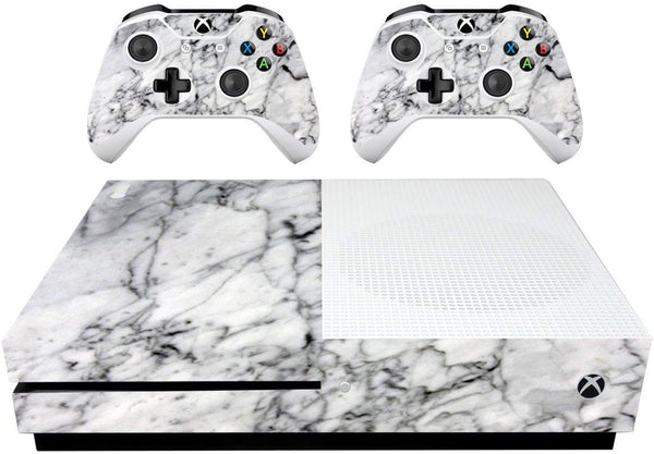 VWAQ Xbox 1 S Decal Xbox One Slim White Marble Skin Cover Wrap - XSGC7 - VWAQ Vinyl Wall Art Quotes and Prints