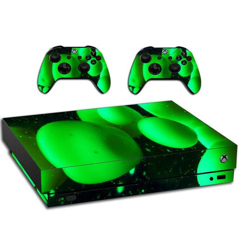 VWAQ Xbox One X Green Skin Lava Lamp | Vinyl Wrap Decal Cover Sticker Skins - XXGC10