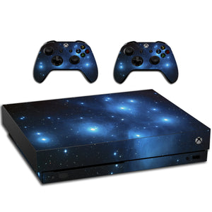 VWAQ Xbox One X Galaxy Skins For Console And Controllers Space Skin Vinyl Wrap - XXGC1