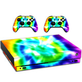 VWAQ Xbox One X Skin Tie Dye Vinyl Wrap Rainbow Decals For Console And Controllers - XXGC2 - VWAQ Vinyl Wall Art Quotes and Prints