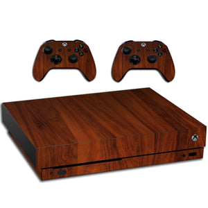 VWAQ Xbox One X Vinyl Skin Wood For Console And Controllers - XXGC4