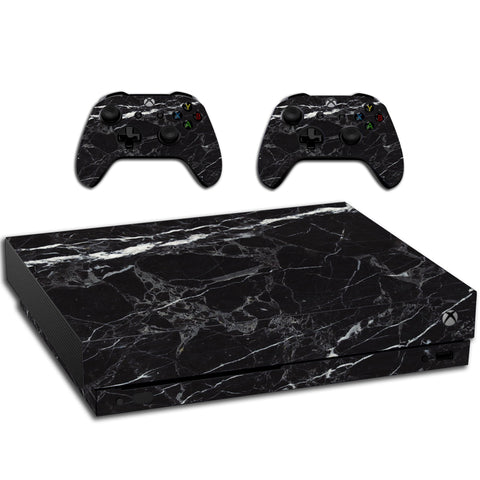VWAQ Xbox One X Black Marble Skin | Vinyl Wrap Decal Cover Sticker Skins - XXGC6 - VWAQ Vinyl Wall Art Quotes and Prints