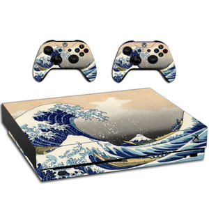 VWAQ Xbox One X Skin The Great Wave Off Kanagawa | Vinyl Wrap Decal Cover Sticker Skins - XXGC8