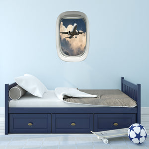 Airplane Window Peel and Stick Jumbo Plane Vinyl Wall Decal - A01 - VWAQ Vinyl Wall Art Quotes and Prints