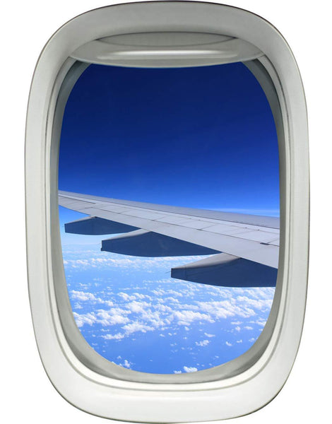 Airplane Window Wing View Peel and Stick Vinyl Wall Decal - A02 - VWAQ Vinyl Wall Art Quotes and Prints