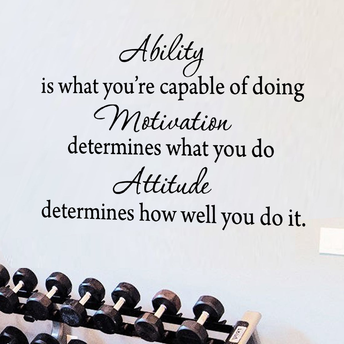 """Ability is What Youre Capable of Doing Inspirational Wall Quotes - 15""""H X 22""""W"""