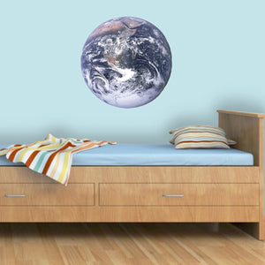 VWAQ Earth Peel & Stick Vinyl Wall Decal Globe Sticker Kids Room Wall Art ED1 - VWAQ Vinyl Wall Art Quotes and Prints